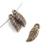 Metalized Bead 5X12mm Leaf Shape Antique Brass